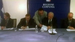 PIU Europa, sottoscritto stamani a Napoli da Mastella e De Luca il IV Atto aggiuntivo