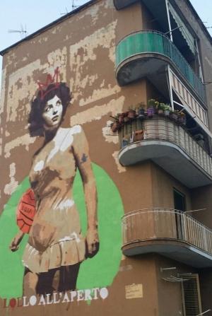 Un grande murales va ad arricchire la passeggiata lungo la Spina Verde
