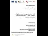 Regolamento Cabina di Regia PIU Europa